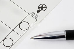 Wahlzettel klein
