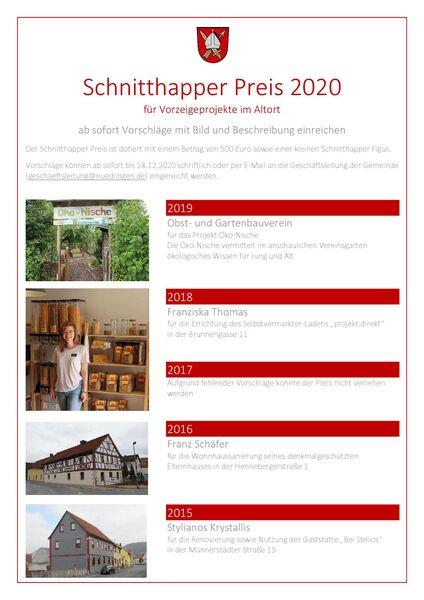 Schnitthapper Preis 2020
