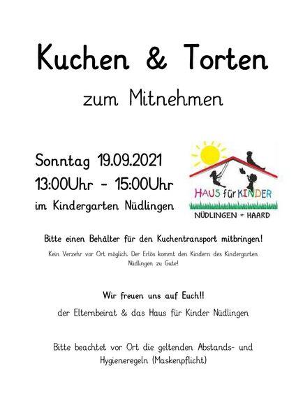 N_B_Hein_Nüdlinger Nachrichten_Ausgaben_2021_16. Ausgabe 10.09.2021_09_Vereine_Haus für Kinder_Kuchenverkauf 09.21