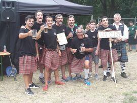 Das fanzösiche Team bei den Highland Games in Haard