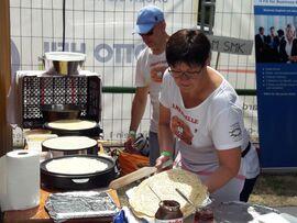 Französischer Essenstand bei den Highland Games in Haard